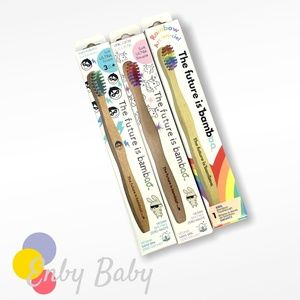 3 Pack Kids Bamboo Toothbrushes - Eco Friendly!